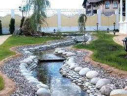 Строительство ручья на участке